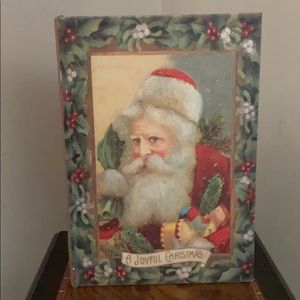 Victorian Santa Christmas storage box